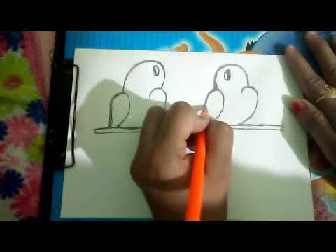 How To Draw Two Birds With Easy Step By Step For Kids