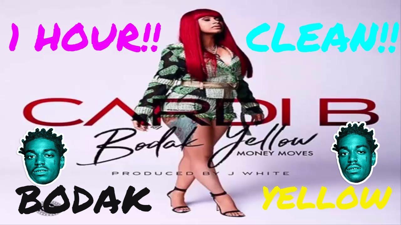 Cardi B Clean: BODAK YELLOW FOR 1 HOUR!!(CLEAN VERSION!)
