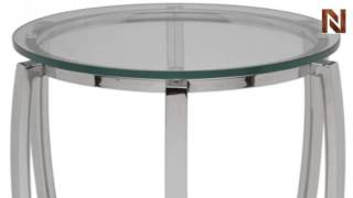 Nuevo Julian Side Table Round Polished Stainless Steel Hgta975