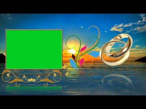Beautiful Wedding Animation Background Video Cool Green Screen Effects thumbnail
