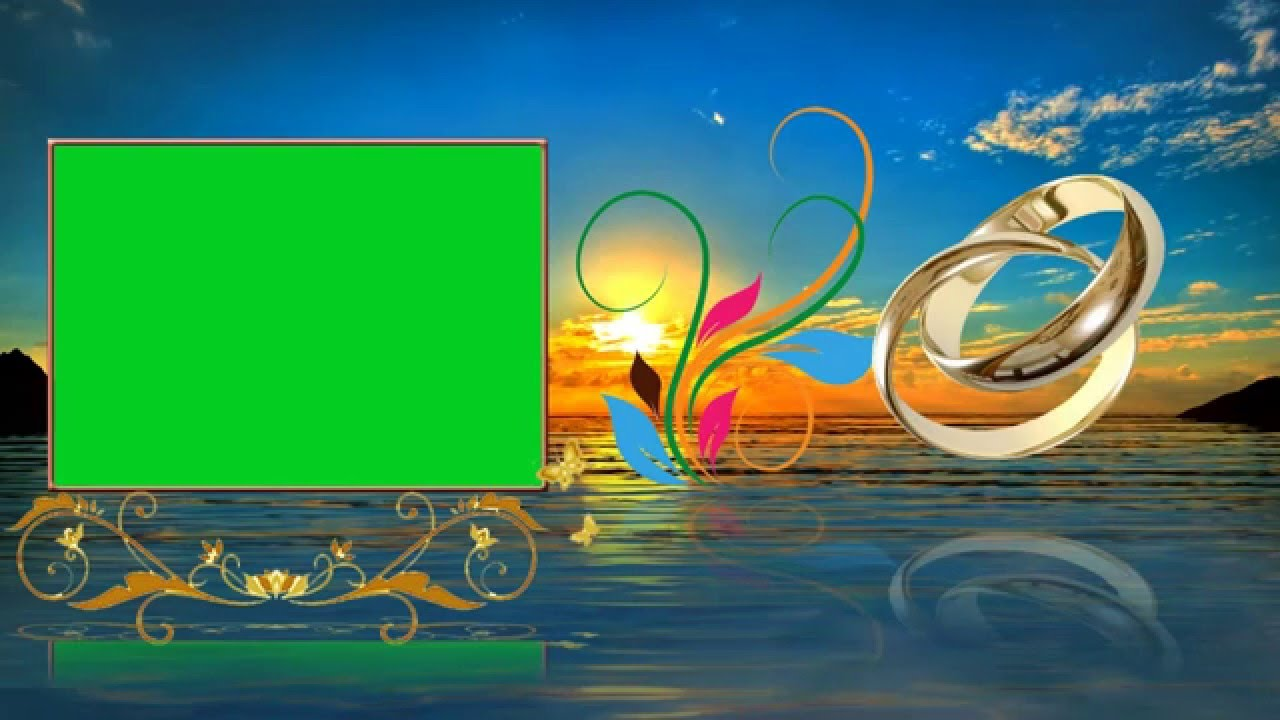 Beautiful Wedding Animation Background Video Cool Green Screen Effects - YouTube - photo#40