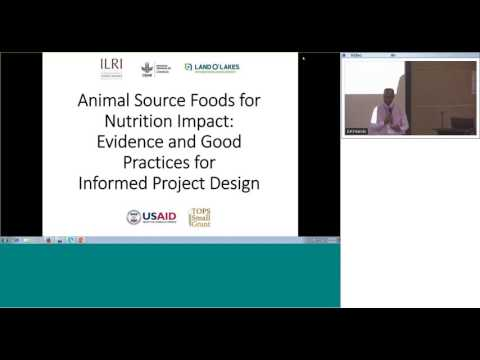 Animal source foods for nutrition impact: Evidence and good practices for informed project design