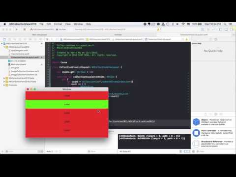 OSX Dev Day 34 - NSCollectionView 2015 - Custom Layout