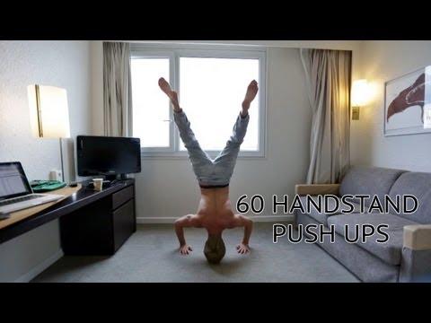60 HANDSTAND PUSH UPS