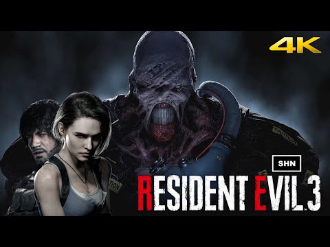 Resident Evil 3 Remake | HARDCORE No HUD  No Crosshair | 4K/60fps Game Movie No Commentary