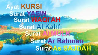Download Bacaan AYAT KURSI MERDU + Yasin + Al WAQI'AH + Surat Kahfi +Al Mulk + Ar Rahman + As SAJDAH