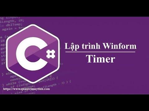 Lập trình C# winform - Timer