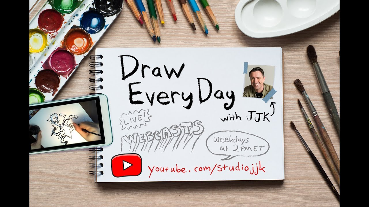 Draw Every Day with JJK: Intro - ep. 1