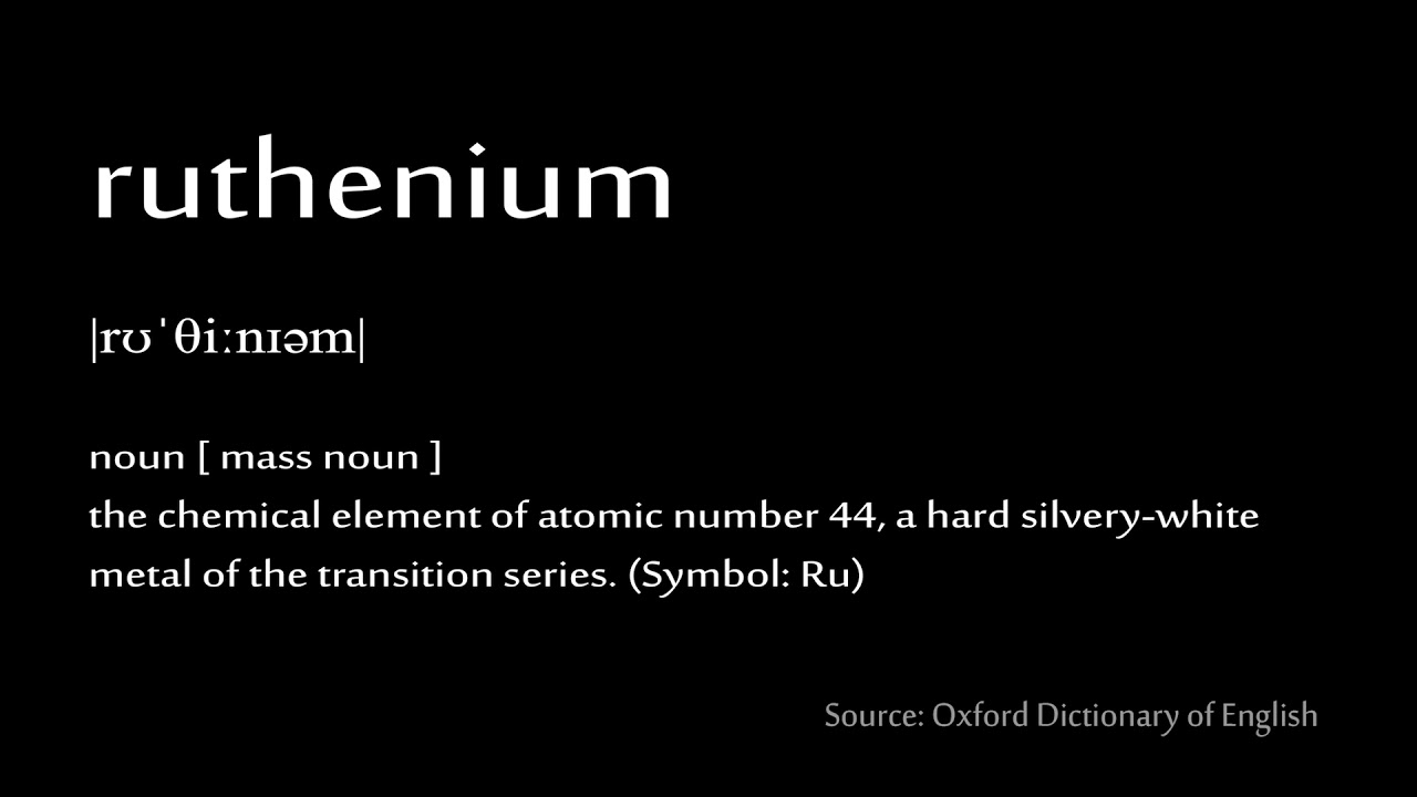 44 Ruthenium How To Pronounce Chemical Elements Periodic Table