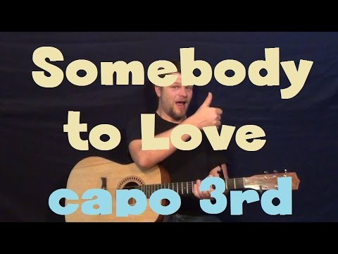 Somebody to Love (Justin Bieber) Easy Guitar Lesson Strum Chord How ...