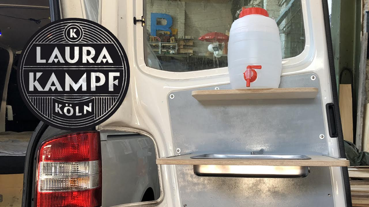 camper van conversion ep 4 foldable sink and water