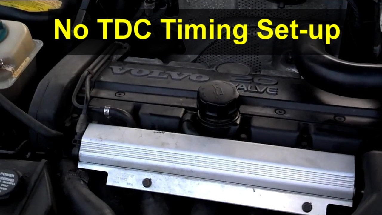 no tdc setting timing on a volvo or other vehicle that has or use timing marks votd [ 1280 x 720 Pixel ]