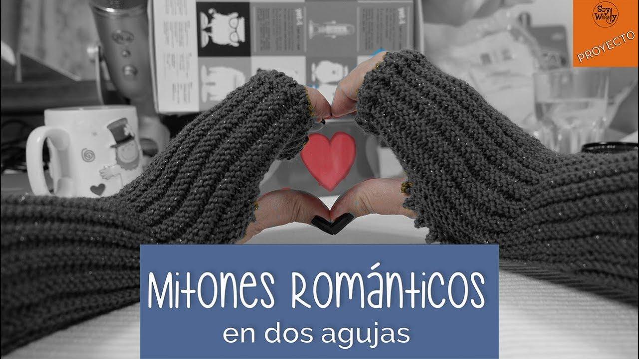 Mitones Románticos tejidos en 2 agujas (rectas, no circulares)-Soy ...