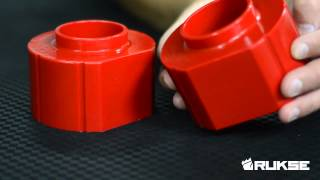 RK1010 2 Inch Red Machined Polyurethane Spacers