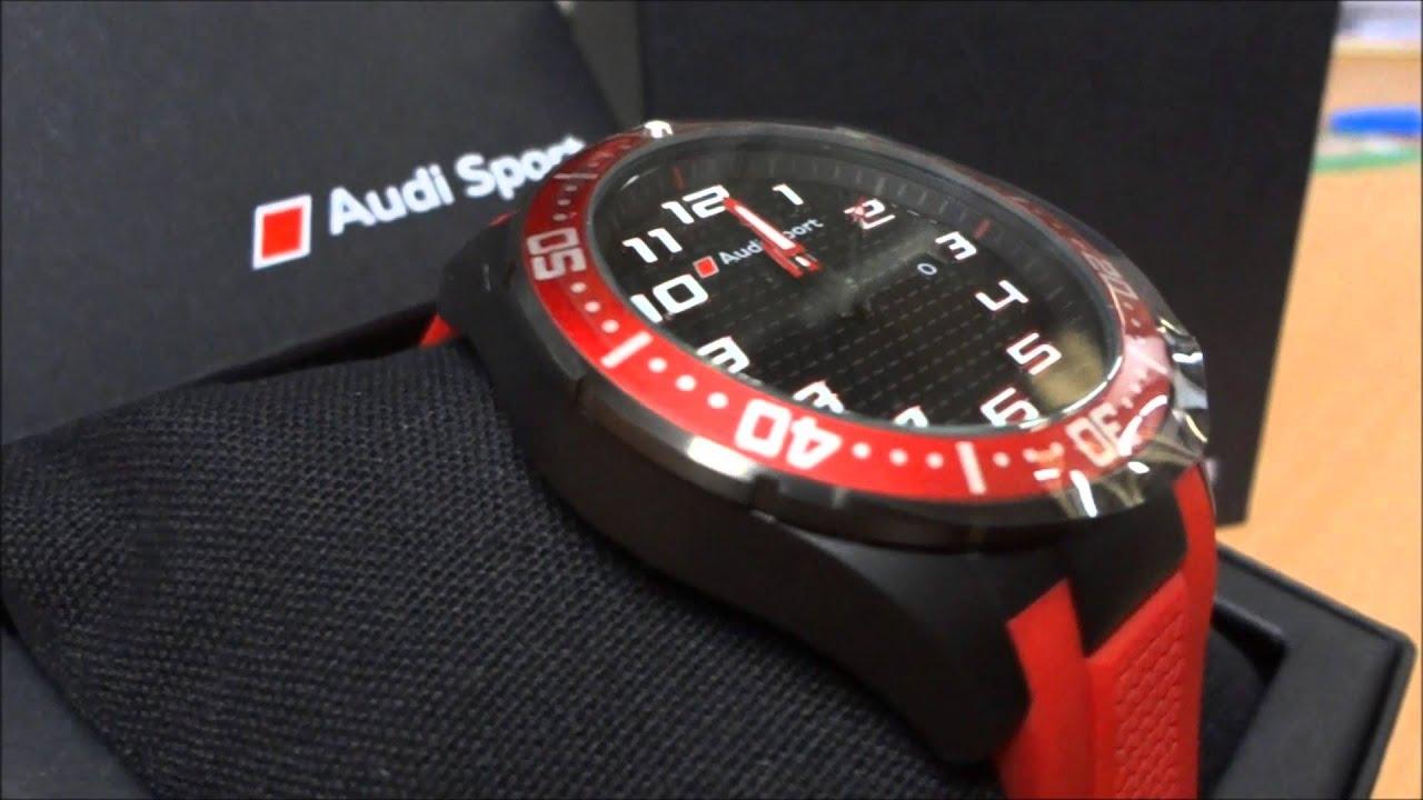 Audi Sports Watch Red - Audi Barry Bourke Berwick - YouTube