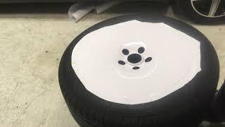 Обтяжка дисков в пленку.