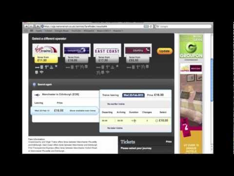 How To Use Cheapest Fare Finder On National Rail Enquiries Website