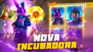 FREE FIRE - AO VIVO SKIN NOVA DO URSO  INCUBADORA SOLO RANKED  LIVE ON 50k