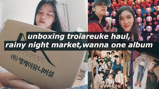 Unbox đồ dưỡng da mới, em gái mưa, mở album của wanna one❤️ #thingsinlife