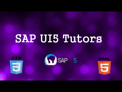 SAP UI5 Most Common and Basic Examples - SAPUI5 Tutorials