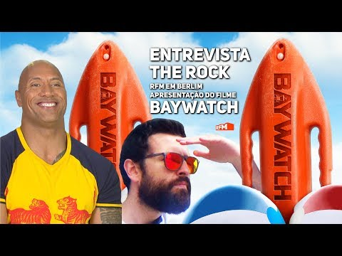 Thumbnail: Entrevista THE ROCK em Berlim - BAYWATCH, o filme