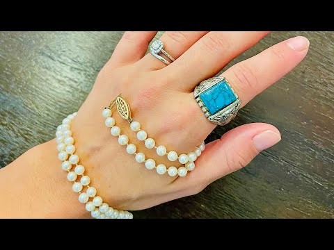 Unopened Goodwill Jewelry BlueBox Giveaway Goodwill Bluebox mystery jewelry unboxing turquoise?