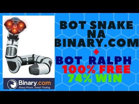 BATENDO A META NA BINARY.COM + BOT RALPH 100% FREE E BOT SNAKE DESTRUINDO A BINARY.COM