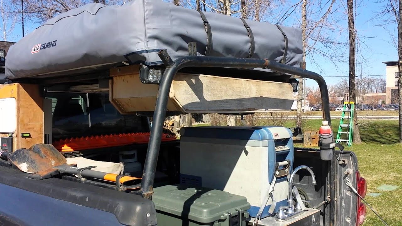 Roof top tent rack part 2 - YouTube