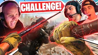 KALI STICKS ONLY CHALLENGE!! INSANE WARZONE ENDING!!  Ft. Nickmercs & Cloakzy