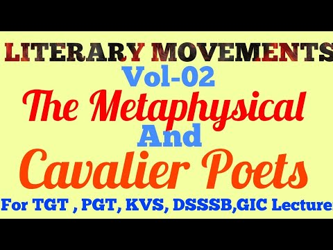 Literary Movements Metaphysical Poets Cavalier Poets Trends