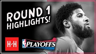 PG to LA? Paul George Full ROUND 1 Highlights vs Utah Jazz   All GAMES - 2018 Playoffs