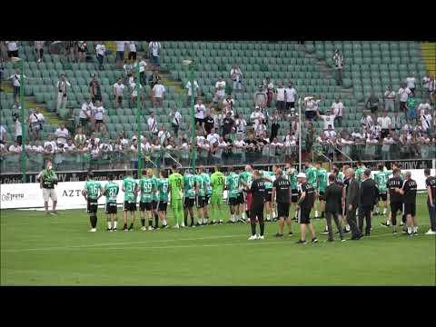 Tak piłkarze Legii cieszyli się z mistrzostwa razem z kibicami na stadionie