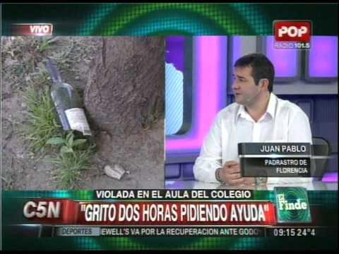 C5N - POLICIALES: HABLA EL PADRASTRO DE LA CHICA ABUSADA EN EL COLEGIO