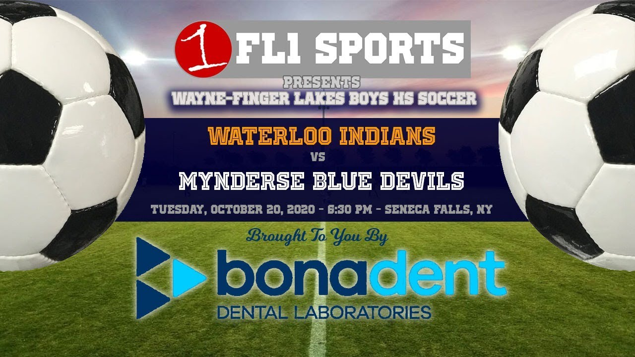 WATCH LIVE AT 6:20 PM: Waterloo battles Mynderse in boys soccer rivalry game (FL1 Sports)