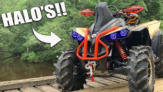 We installed Halo's!! 2019 Canam Renegade 1000 XMR Halos - http://farmudding.com/index.php/product/can-am-outlander-g2-and-xmr-halos-interior/ ...