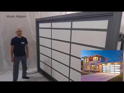 Стальные автоматические ворота для гаража взломостойкие