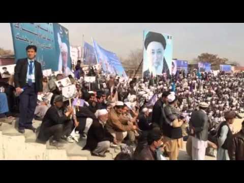 Afghan presidential election 2014: Kabul men rally