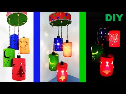 How to make wall hanging lamp || DIY , wall hanging || PAPER LAMP
