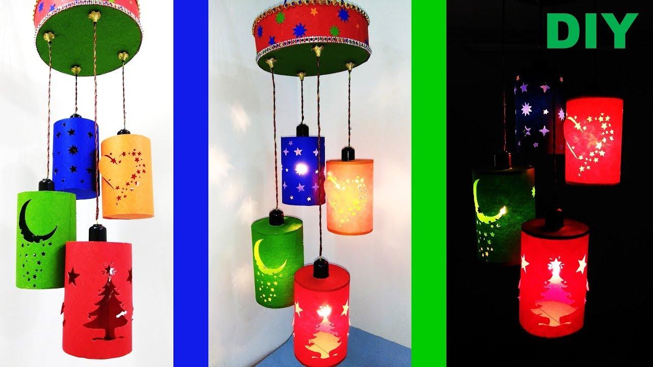 How To Make Wall Hanging Lamp Diy Wall Hanging Paper Lamp