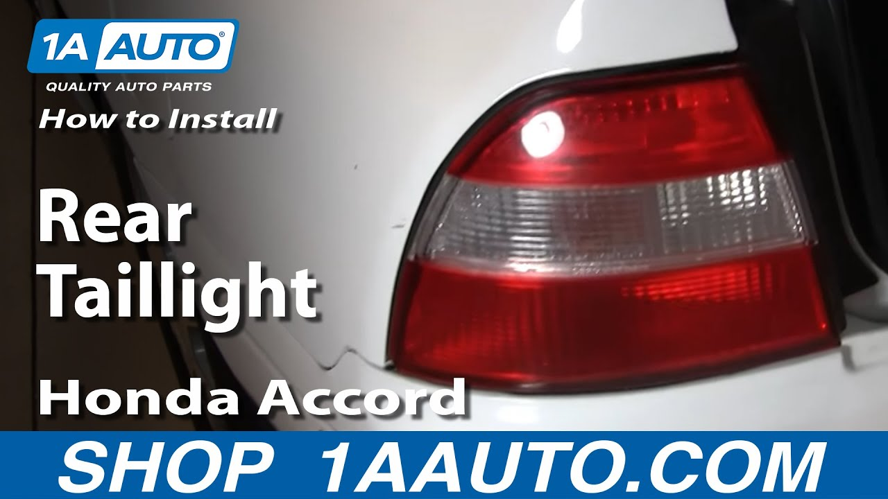 How To Install Replace Rear Taillight Honda Accord 94 97 1aautocom 1100 Custom Wiring Harness