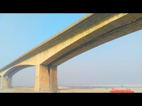 Mahatma Gandhi Setu Current status 21-03-18, 1 sath chal raha hai Construction aur pul todne ka kaam