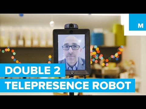 Hands on with Double 2 Telepresence Robot   Mashable