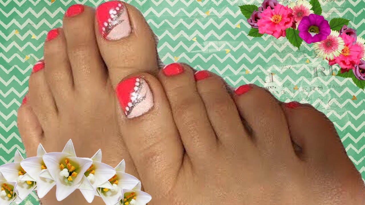 Mira c mo decorar las u as de los pies paso a paso - Unas modelos para pintar ...