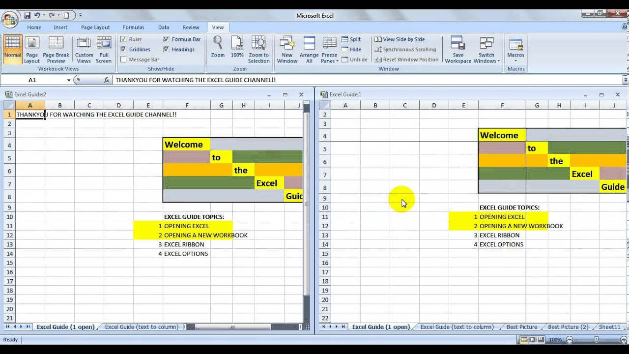 Excel Guide How To Open New W Ksheet Hide Ribb
