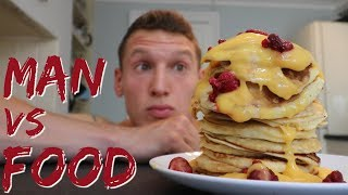 MAN vs FOOD | Big Cheat Meal | Full Day of Eating