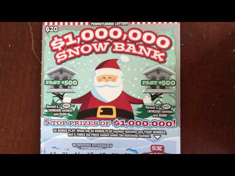 (2) $20 $1,000,000 Snowbank and Cat Fight - PA Lottery
