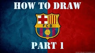 How to draw fc Barcelona logo!! (part 1)