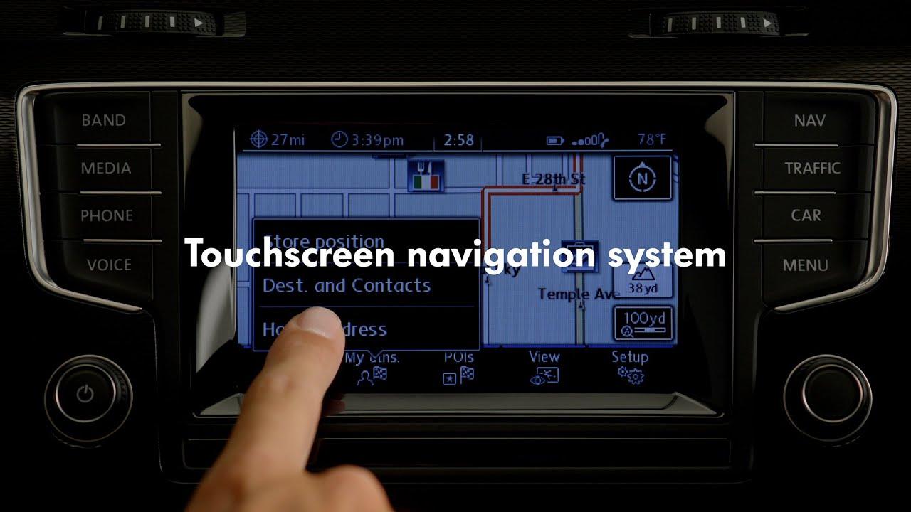 2015 volkswagen golf gti touchscreen navigation system. Black Bedroom Furniture Sets. Home Design Ideas