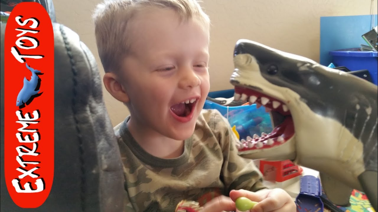 Megaladon Sharks Toys For Boys : Megalodon shark toy helps cole clean up the mess youtube