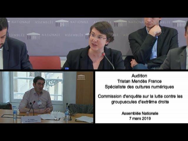 Audition de Tristan Mendès France, spécialiste des cultures numériques